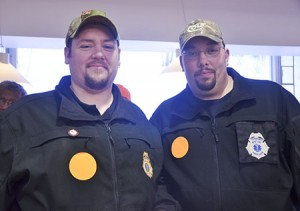 Two Barton ambulance drivers, Luke Willard of Brownington and Jeffrey Youry of Troy, brought nearly 2,000 signatures against S.31 to present to their senators.