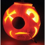 David Bailey fashioned this disreputable character from a miniature pumpkin.