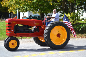 Ed Newton of Newport restored this 1947 Masse Harris tractor, with which his grandfather farmed.