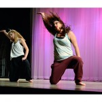 "Kira Moore, left, and Brittany Tetlow choreographed and danced ""As Long As You Love Me."""