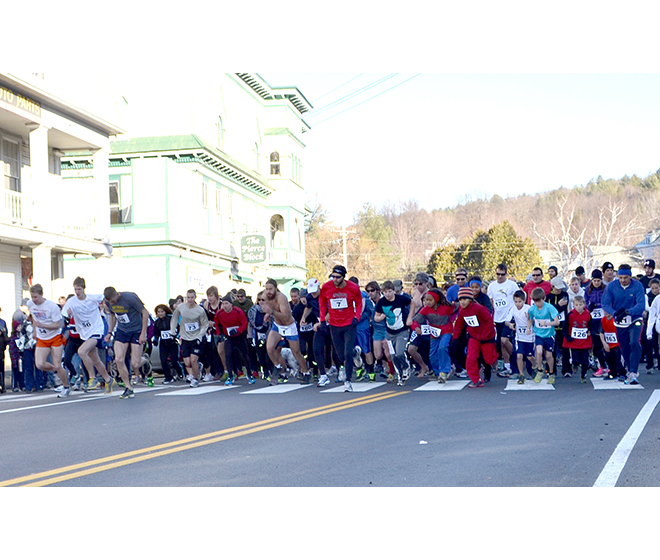 This was the eleventh year of the Turkey Trot in Barton, and 473 people ran or walked the five-kilometer course.  Photo by Bethany M. Dunbar